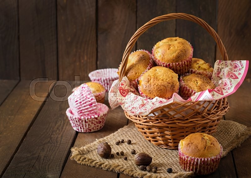 A Basket of Muffins